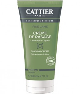 Cattier - Crème de rasage Fine lame Cacao épicé Jojoba - 150 ml