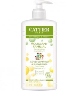 Cattier - Moussant Familial au Lactoserum cheveux et corps - 1 litre