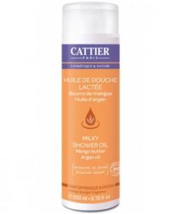Cattier - Huile de douche lactée Parfum Mangue et Argan - 200 ml