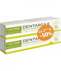 Cattier - Lot de 2 Dentargile reminéralisant à l'Anis anti tartre - 150g