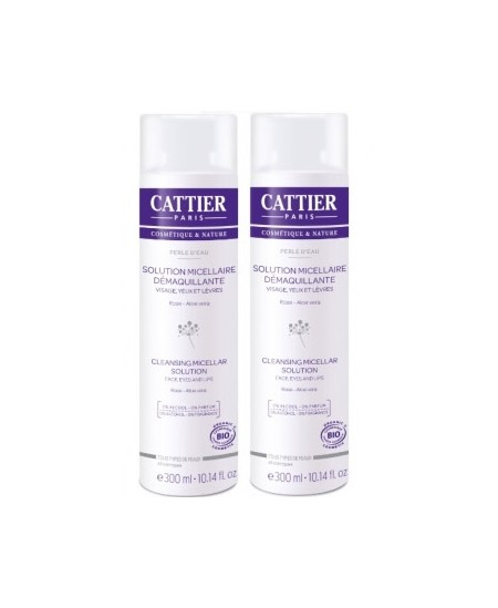 Cattier - Lot de 2 solutions micellaire offre spéciale - 2 x 300 ml