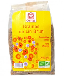 Celnat - Graines de lin brun BIO - 250 gr