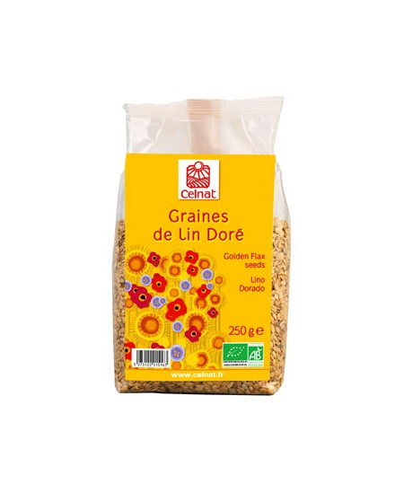 Celnat - Graines de lin doré - 250 gr