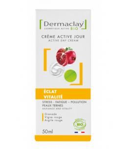 Dermaclay  - Crème de jour Eclat Vitalité Dermaclay Stress Fatigue Pollution - 50 ml