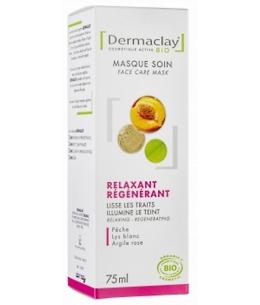 Dermaclay  - Masque Express Relaxant Régénérant Nectar de Pêche - 75 ml