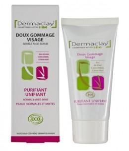 Dermaclay  - Gommage doux visage unifiant purifiant - 75 ml