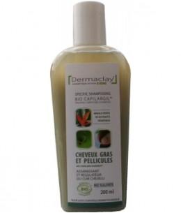 Dermaclay  - Shampoing Cheveux Gras et Pellicules à l'Argile Verte - 200 ml
