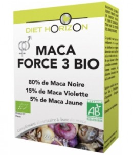 Diet Horizon - Maca Force 3 bio - 60 comprimés