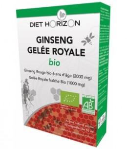 Diet Horizon - Ginseng Gelée Royale bio - 20 ampoules de 10 ml