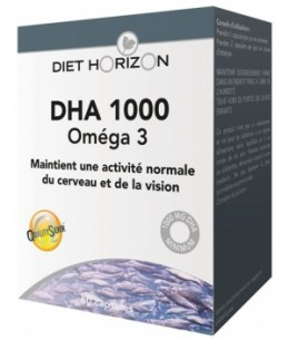 Diet Horizon - DHA 1000 Oméga 3 - 60 capsules