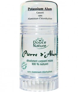 Douce Nature - Déodorant corporel Pierre D'Alun mixte naturelle - 120 gr