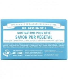 Dr Bronners - Savon solide Non parfumé- 140 gr