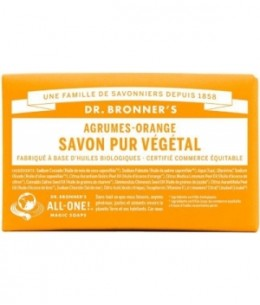 Dr Bronners - Savon solide aux Agrumes Orange - 140 gr
