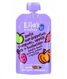 Ella S Kitchen - Gourde Patate Douce Potimarrons Pomme Myrtille - 100 gr