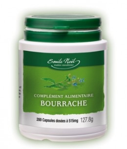 Emile Noel - Huile de Bourrache bio - 200 capsules dosées à 515mg