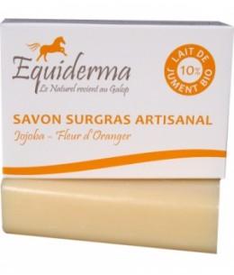 Equiderma - Savon au lait de jument Jojoba Fleur d'Oranger sans huile essenteille - 100 gr