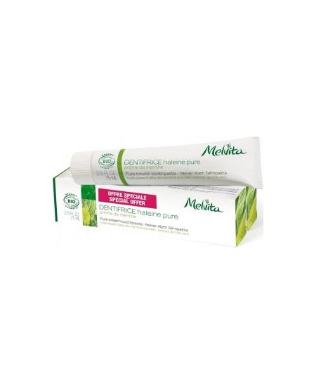 Melvita - Duo Dentifrice Haleine pure Arôme de Menthe 2X - 150 ml