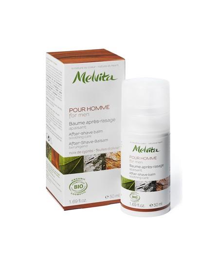 Melvita - Baume après rasage Noix de Cyprès et feuilles d'Olivier - 50 ml