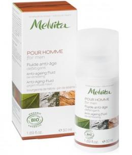 Melvita - Fluide anti âge Homme Bourgeon Hêtre et Pin de Sibérie - 50 ml