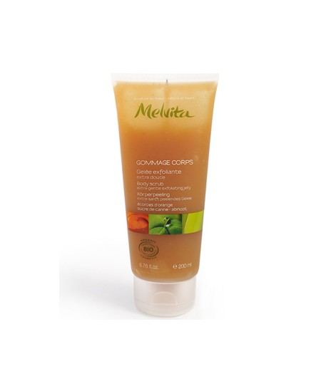 Melvita - Gommage corps extra doux Orange, sucre de Canne - 200 ml