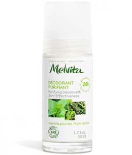 Melvita - Déodorant Bille 24h purifiant Menthe Poivrée Thym Santal - 50 ml