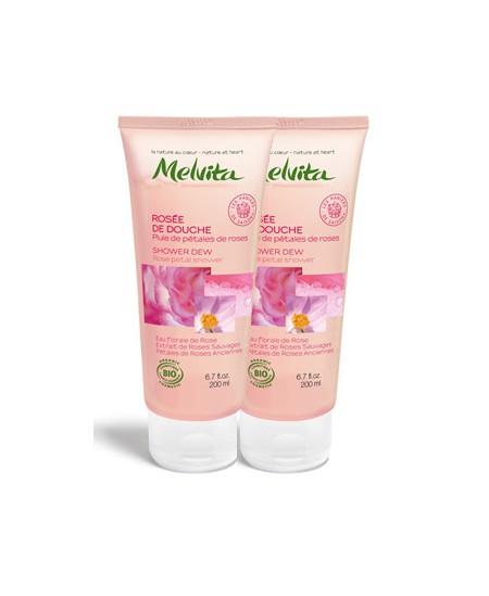 Melvita - Duo Rosée de Douche Pluie de pétales de roses - 2x200 ml