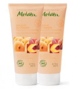Melvita - Duo Douche du verger Pulpe de fruits tendres - 2x200 ml