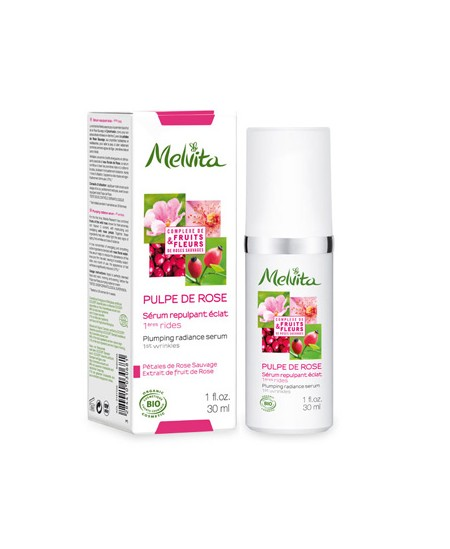 Melvita - Sérum repulpant éclat Pulpe de Rose - 30 ml