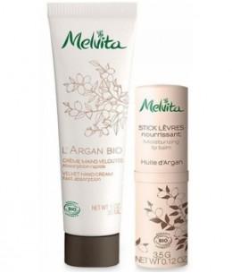 Melvita - Kit mains et lèvres à l'argan - 30 ml + 3,5 gr