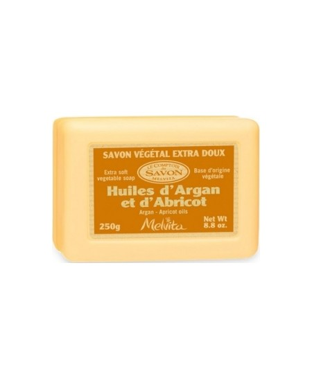 Melvita - Savon végétal Huiles d'Argan et Abricot - 250 gr