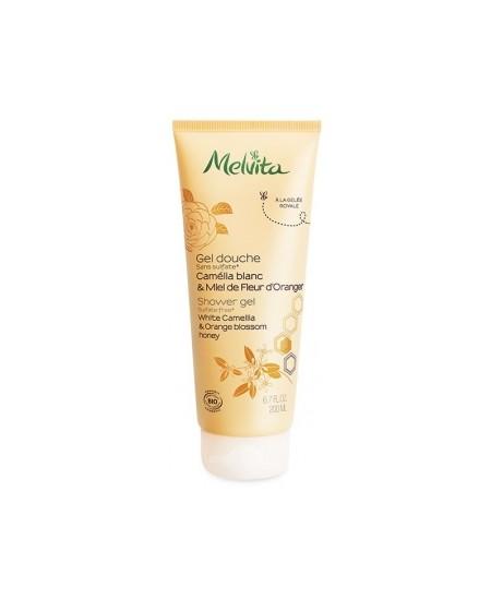 Melvita - Gel douche camélia et miel de fleur d'oranger - 200 ml