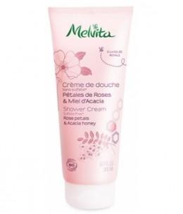 Melvita - Crème de douche pétales de roses et miel d'acacia - 200 ml