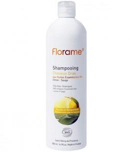 Florame - Shampoing cheveux gras Citron Sauge - 500 ml