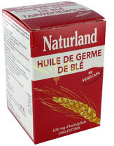 NATURLAND - HUILE DE GERME DE BLÉ - 80 VÉGÉCAPS