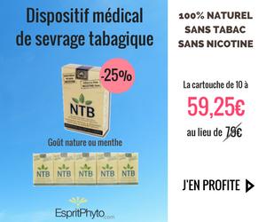59,25€ la cartouche de NTB au lieu de 79€