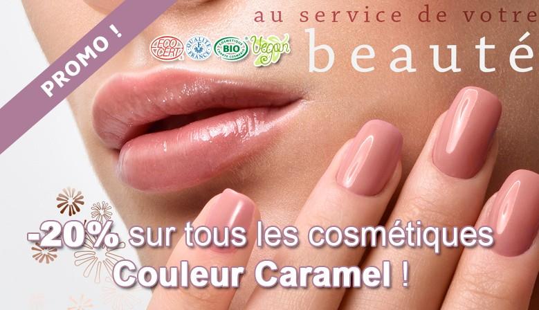 -20% sur toute la gamme de cosmétiques Couleur Caramel