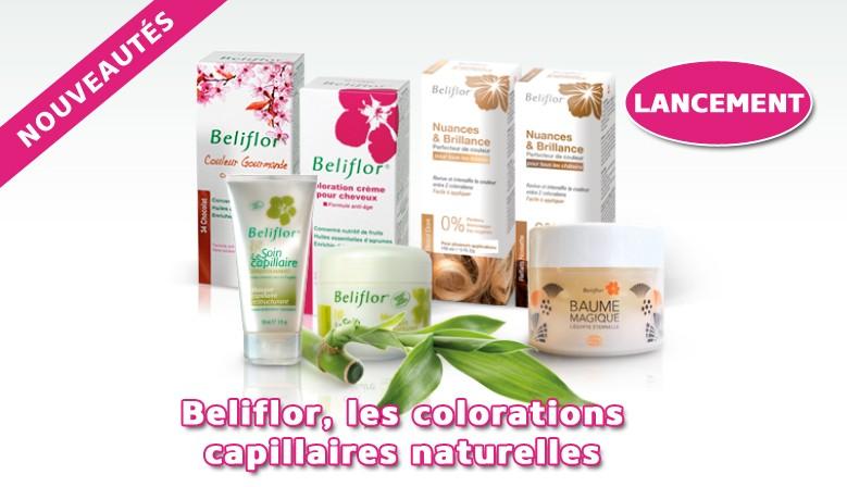 Lancement : Beliflor, les colorations capillaires naturelles