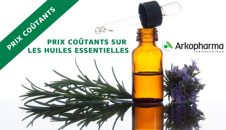 Prix coûtants sur les huiles essentielles Arkopharma