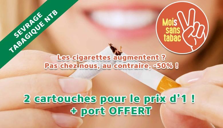 Mois sans tabac : 2 cartouches pour le prix d'une + port offert