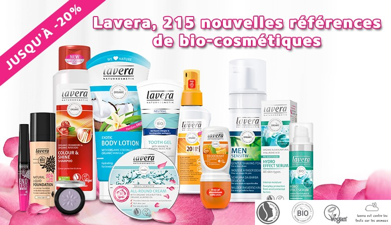 Nouveautés : Lavera, 215 nouvelles références de maquillage et cosmétiques bio