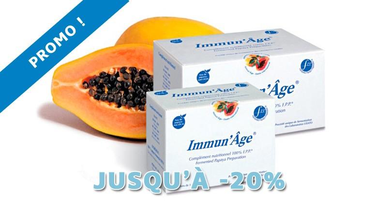 PROMO : jusqu'à -20% sur l'Immun'Âge !