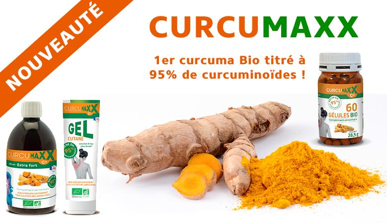 Curcumaxx, 1er curcuma Bio titré à 95% de curcuminoïdes !