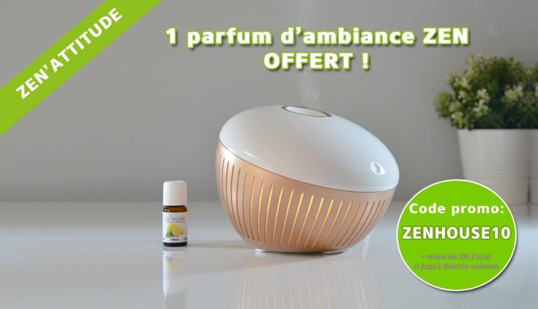 1 parfum d'ambiance Zen Offert dès 30 euros d'achat avec le code ZENHOUSE10