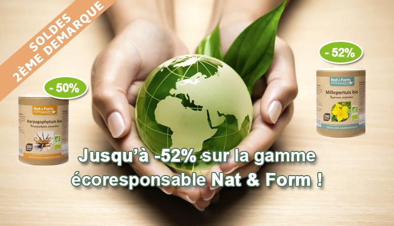SOLDES : jusqu'à -52% sur la gamme écoresponsable Nat & Form
