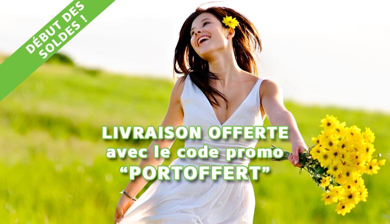 """SOLDES : Livraison offerte avec le code promo """"PORTOFFERT"""""""